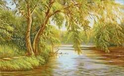 Брези до реката