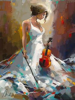Жена с цигулка 30/40 см