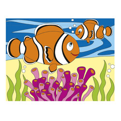 Пъзел за оцветяване, Риба Клоун
