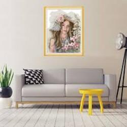 Момичето с цветята 39/45 см