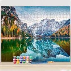 Езеро - Пъзел от 1000 части + Рисуване по номера