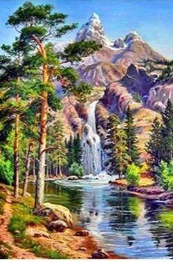 Водопад в планината 30/40 см