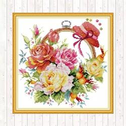 Кошница с цветя 32/32 см