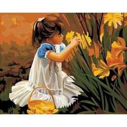 Момичето и цветята 40/30 см