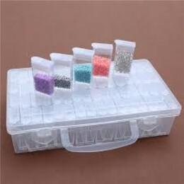 Кутия за съхранение на диамантчета - 64 гнезда
