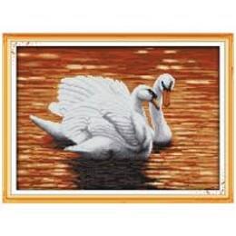 Двойка лебеди 44/33 см