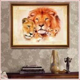 Семейство лъвове 35/25 см