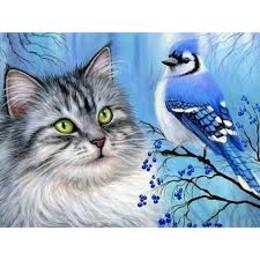 Коте и птиче 40/30 см