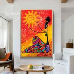 Африканка - картина