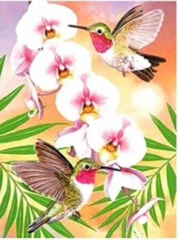 Птичета и орхидея 30/40 см