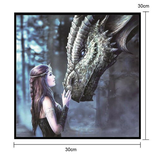 Принцеса и Дракон 30/30 см