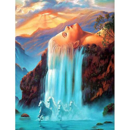 Водопад от коса 30/40 см