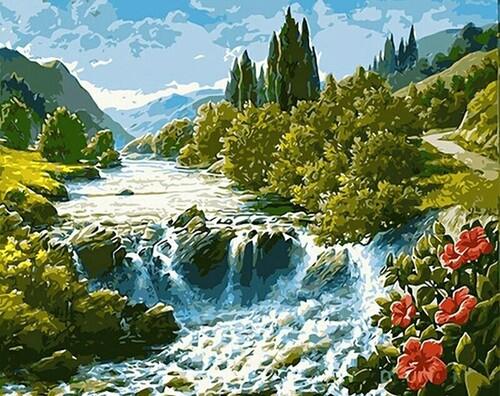 Река в планината 40/30 см