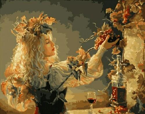 Жената с грозда 40/30 см