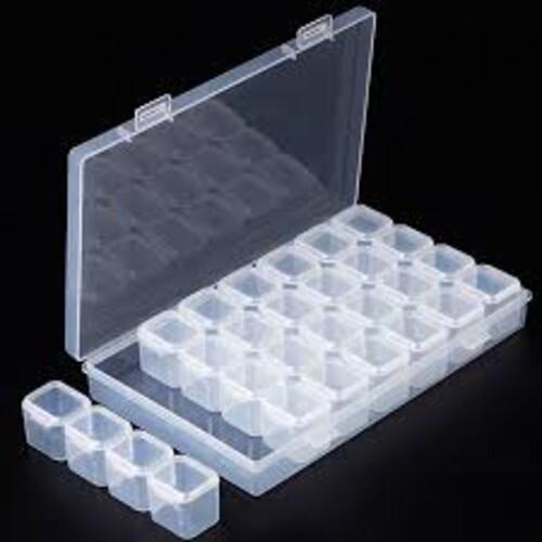 Кутия за съхранение на диамантчета - 28 гнезда