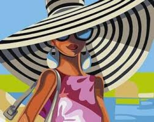Жена с шапка 30/30 см