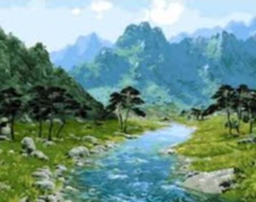Река в планината 50/40 см