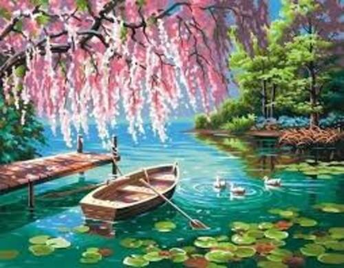 Лодка в езерото 40/40 см