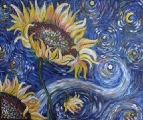 Слънчогледи от Ван Гог 40/30 см