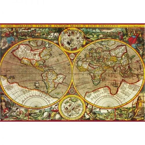 Пъзел Древна карта на света XVII век с 200 елемента