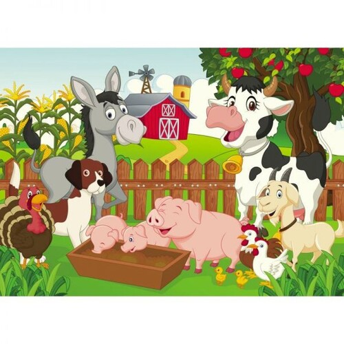 """Пъзел """"Животните от фермата"""", 60 елемента"""