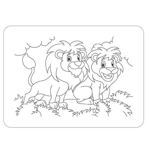 Пъзел за оцветяване, Лъв