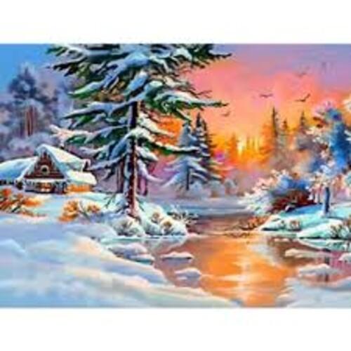 Зимен пейзаж 50/40 см