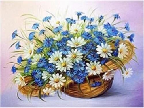 Цветя в кошница 40/30 см