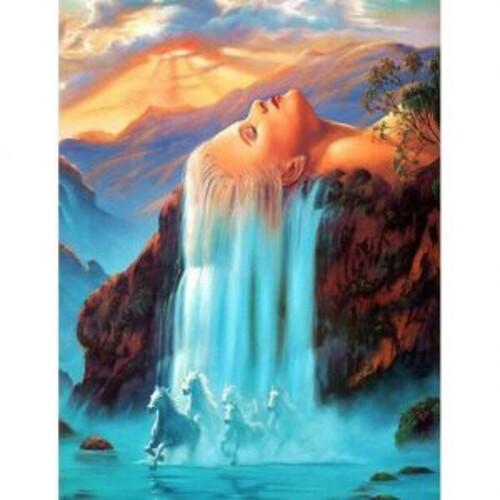 Водопад от коса 40/50 см