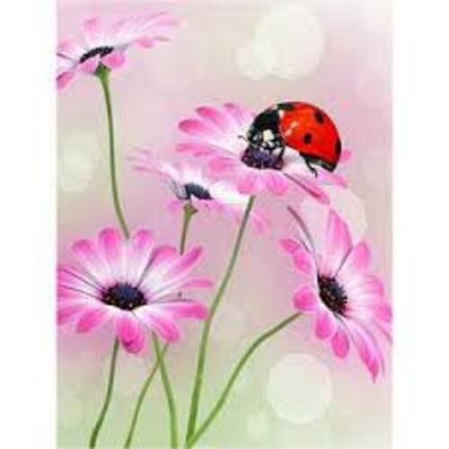 Цветя и калинка 30/40 см