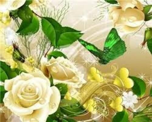 Рози и пеперуди 40/30 см
