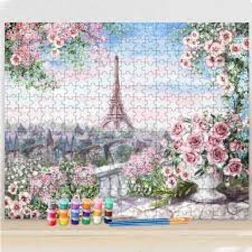 Париж - пъзел от 1000 части , рисуване по номера