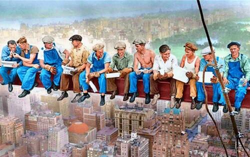 Обяд върху небостъргач 70/50 см